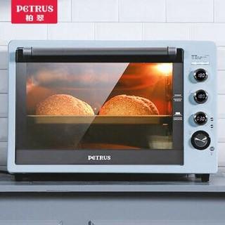 柏翠 (petrus) 电烤箱家用商用62L大容量上下独立控温全自动多功能电子控温PE3060