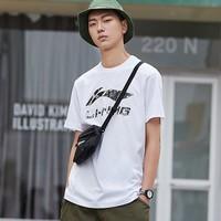 LI-NING 李宁 AHSP495 印花短袖T恤 *8件