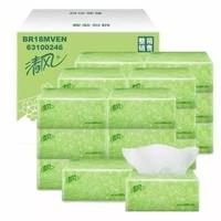 清风抽纸淡绿花柔韧2层200抽*20包