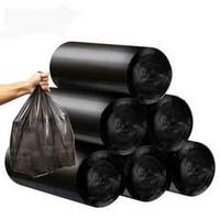 君偕 家用黑色平口垃圾袋 5卷 100只