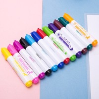 得力 儿童可水洗水彩笔 12色