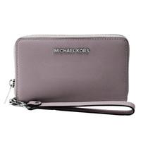 MICHAEL KORS 迈克·科尔斯 MK女包 深褐色牛皮革长款拉链女士钱包手拿包