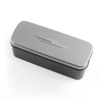 阿司倍鹭(ASVEL)塑料带饭盒微波炉加热单层分格 日式成人午餐盒 灰色810ml *3件