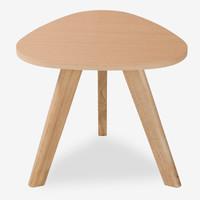 好事达 茶几  客厅沙发艾雅三角几 原木色边几 木纹色边桌3633