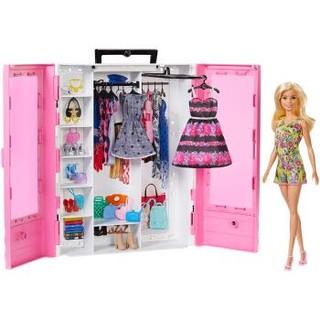 芭比 Barbie 女孩玩具新品畅销爆款 芭比娃娃之时尚衣橱送礼佳品