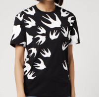 McQ Alexander McQueen 经典黑色燕子T恤
