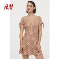 H&M  0714803 女子碎花连衣裙