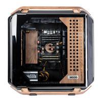 FUXK 酷冷至尊C700M定制MOD版 木纹木质机箱 全塔式电脑主机复古电竞机箱