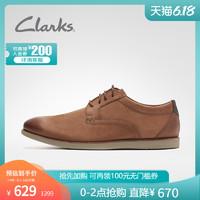 clarks其乐男鞋Raharto Plain休闲德比鞋男休闲鞋英伦商务男皮鞋
