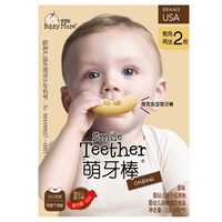 宝思加(BitsyMore)宝宝磨牙棒饼干 微笑曲型萌牙棒幼儿休闲食品儿童零食营养辅食 原味 72g *7件