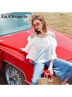 拉夏贝尔puella 雪纺衫+阔腿裤 两件套女 2T000680