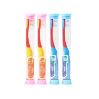 牙齿驿站 儿童软毛小刷头牙刷 4支