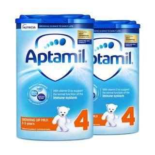 Aptamil 英国爱他美 婴儿奶粉 4段 800克/罐 2罐装 2-3岁 *2件