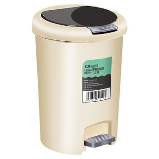五月花 脚踏分类垃圾桶  可手按 纸篓 卫生间垃圾桶家用厨房客厅翻盖 12L GB112