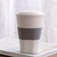 承文閣 个人茶杯创意陶瓷杯三件套大容量方圆杯 白色 *9件