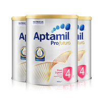 Aptamil 爱他美 白金版 婴幼儿奶粉 4段 900g *3罐