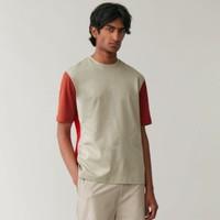 COS 0509341037 男士纯棉折边短袖T恤