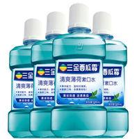 三金 西瓜霜薄荷味漱口水 500ml*4瓶 *3组