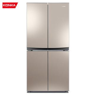 康佳(KONKA)355升 十字对开多门电冰箱家用超薄嵌入式静音节能四门BCD-355GX4S