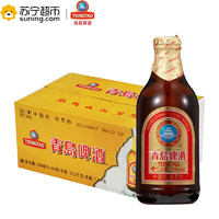 TSINGTAO/青岛啤酒 高端小棕金质 296ml*24瓶