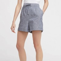UNIQLO 优衣库 413137 女装麻棉休闲短裤