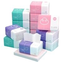 植护餐巾纸抽纸家用卫生纸巾小包面巾纸婴儿原木整箱批实惠装40包