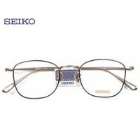 SEIKO 精工 纯钛超轻眼镜架H03097+明月1.61防蓝光镜片