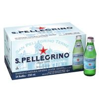 S.PELLEGRINO 圣培露 含气天然矿泉水 玻璃瓶装 250ml*24瓶 *4件