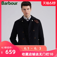 Barbour/巴伯尔 男装休闲双排扣翻领呢绒外套 BW14WJ401