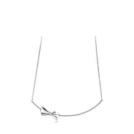 Pandora 潘多拉 397233CZ 华丽蝴蝶结925银项链锁骨链