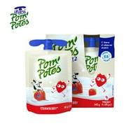 法优乐(PomPotes)法国原装进口酸奶 常温儿童酸奶 牛奶 宝宝零食非果泥 草莓口味85g*4袋 *4件