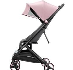 小米(MI)米兔折叠婴儿推车0-3岁可坐可躺轻便高景观婴儿车 米兔折叠婴儿推车 粉色