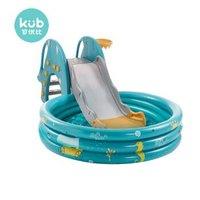 可优比儿童室内滑梯加厚小型滑滑梯家用多功能宝宝球池组合玩具皇家绿(无海洋球)