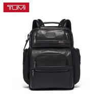 TUMI 途明 Alpha 3系列男士/中性商务旅行高端时尚皮革双肩包09603580DL3 黑色