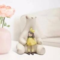 構得賈曉鷗《暖熊.夏夜》藝術品創意禮物家居擺件裝飾品精美禮物包裝