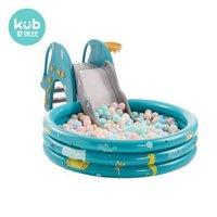 可优比儿童室内滑梯多功能宝宝滑梯球池组合玩具皇家绿(带海洋球)