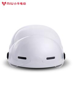小牛电动夏季电动车头盔半盔透气防晒安全帽
