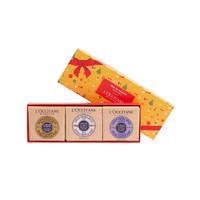 【预付5元翻10倍到手价111.28元】欧舒丹2019年三色香味皂礼盒*1件