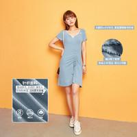 七格格 2020新款短袖抽绳修身显瘦短款裙子