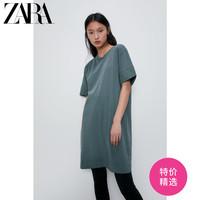 ZARA新款 女装 纽扣饰迷你连衣裙 00962153409