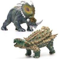 爸爸妈妈(babamama)恐龙 小美甲龙 戟龙模型 侏罗纪动物模型玩具 两只装 666-3 *4件