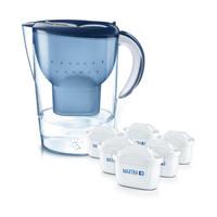 京东PLUS会员、有券的上 : BRITA 碧然德 联名款海洋蓝系列 3.5L 滤水壶 一壶6芯 +凑单品