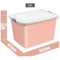 卡莱饰 50L大号带轮塑料收纳箱 单只装 *5件 +凑单品