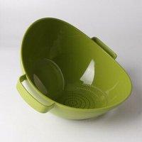 茶花 塑料沥水篮加厚洗水果盆厨房洗菜篮 紫色 *3件
