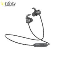 哈曼燕飞利仕(Infinity)I200BT入耳式蓝牙无线耳机 运动/手机游戏耳机  跑步磁吸式带麦安卓苹果耳机 深空灰
