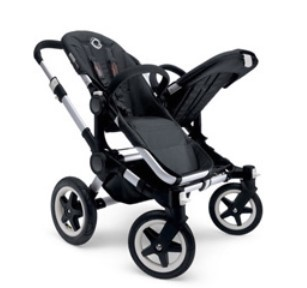 Bugaboo Donkey双胞胎婴儿推车 大空间 可转换 全黑