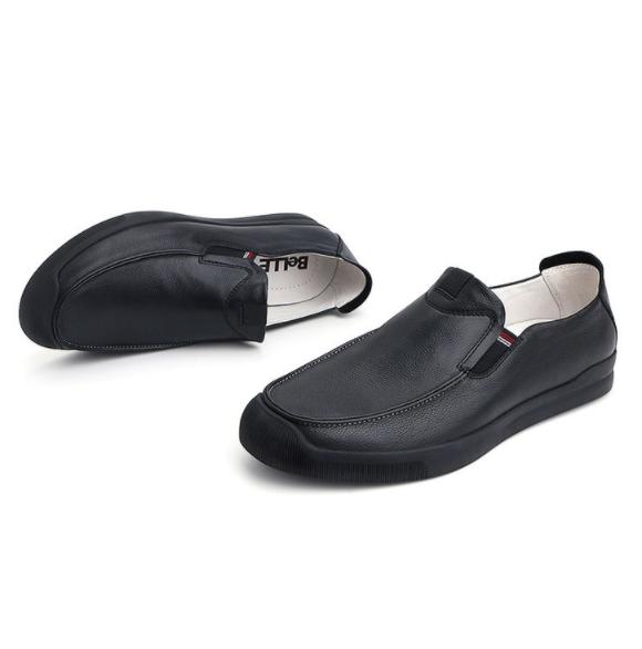 Belle 百丽 5VW01CM8 男士休闲乐福鞋 黑色 40