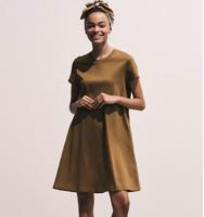 UNIQLO 优衣库 422680 丝光棉A字型连衣裙