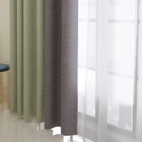 sunpathie北欧简约日式全遮光布遮阳隔热可水洗阳台窗帘卧室多丽