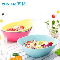京东PLUS会员 : 茶花 水果盆沙拉调味碗洗菜盆椭圆形2.9L 3支装 2789 颜色随机 *9件